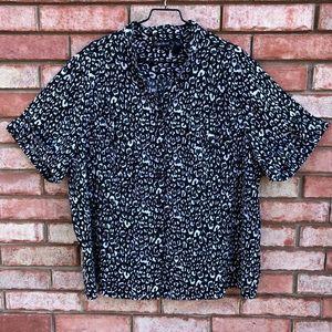 Maggie Barnes leopard print button down shirt